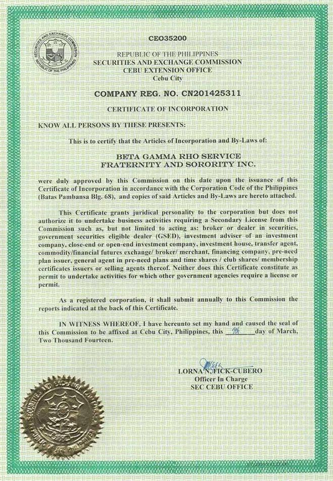 SEC Registration